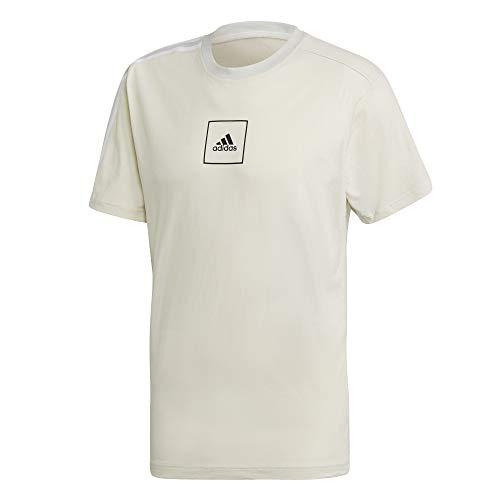 adidas Herren 3 Streifen Tape T-Shirts, Orbgry, XS
