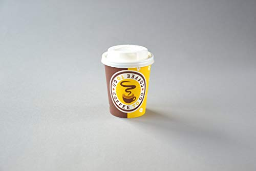 1000 Stück Coffee to Go Becher mit Deckel (Ø 80mm), 200ml Pappbecher Kaffeebecher Hartpapier Trinkbecher