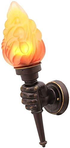 Wandlamp, creatieve persoonlijkheid, Amerikaanse stijl, café, trap, hal, decoratie, fakkel van glas, slaapkamer, wandlamp