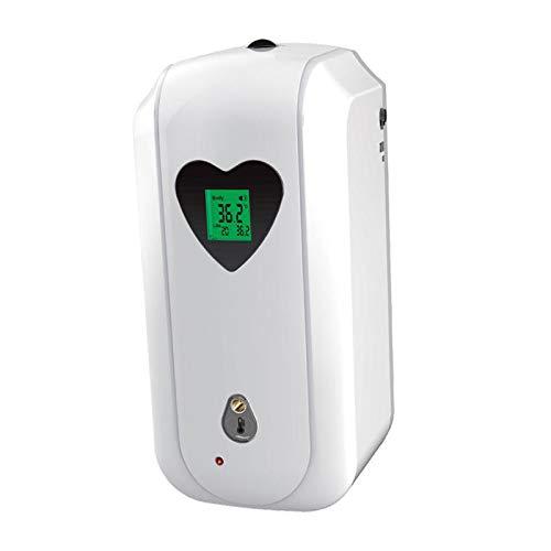 H HILABEE Termómetro Dispensador de Desinfectante de Manos Automático Montado en La Pared Y Alarma de Fiebre - Goteo, Individual