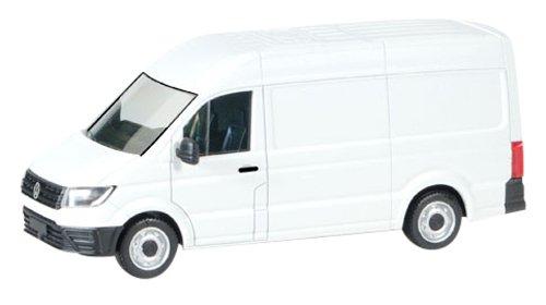 herpa, Volkswagen 092982 VW Crafter Fahrzeug in Miniatur zum Basteln, Sammeln und als Geschenk, weiß