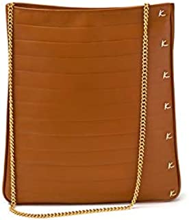 Kaizer KZ2202BR Leather Bag for Women - Tote Bags