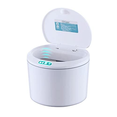 Bote de Basura Automático con Sensor Sobremesa Mini Cesto Basura con Tapa para Escritorio y Vehículo
