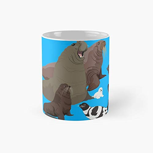 Taza clásica con texto en inglés 'I Am Thank ful for Pinnipeds' | El mejor regalo divertidas tazas de café de 325 ml