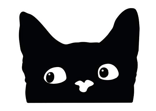 Aufkleber Katze Katzenblick Fun Autoaufkleber Sticker Waschstrassenfest UV-Beständig Premium Edition