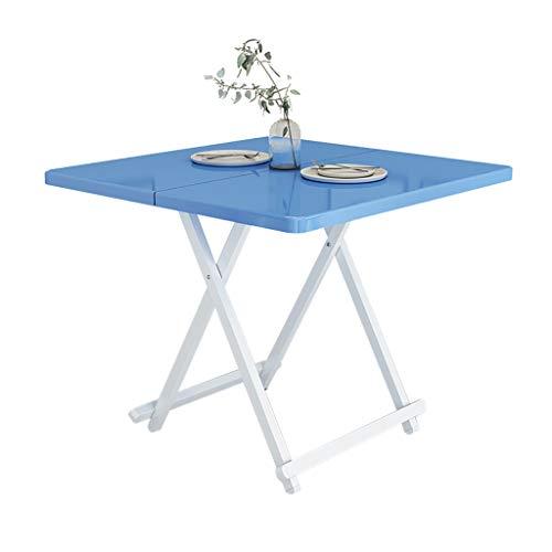 Preisvergleich Produktbild BL Quadratischer Klapptisch faltet Sich zur Hälfte mit Tragegriff,  tragbarer Familientisch für Büro / Picknick / Garten / Camping