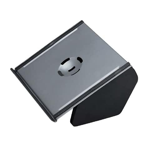 Miroytengo Soporte sobremesa Ordenador portátil Regulable 4 Posiciones Color Negro Base Accesorio informática 20x33x28cm