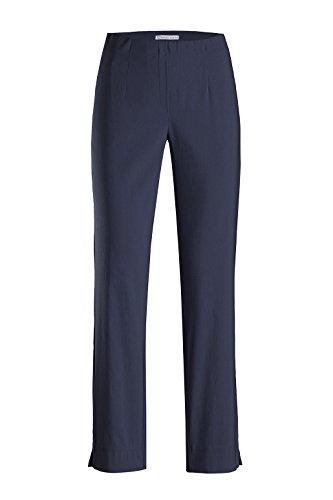 Stehmann - Stretchhose INA 800 - die Lange Hose - Gerade Pull-On Hose mit Schlitz, Bengaline - IBL 80 cm, Hosengröße:36, Farbe:Blau - Marine