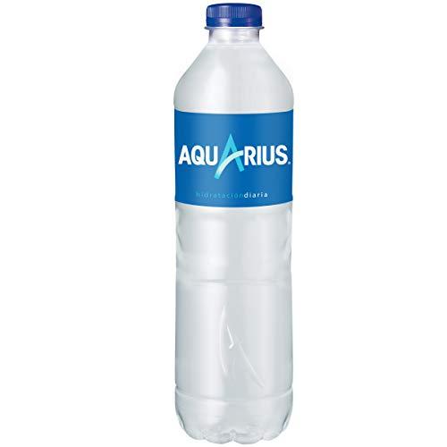 Aquarius - Limón, Bebida para deportistas, refresco sin gas, 1.5 l (Pack de 6), Botella de plástico
