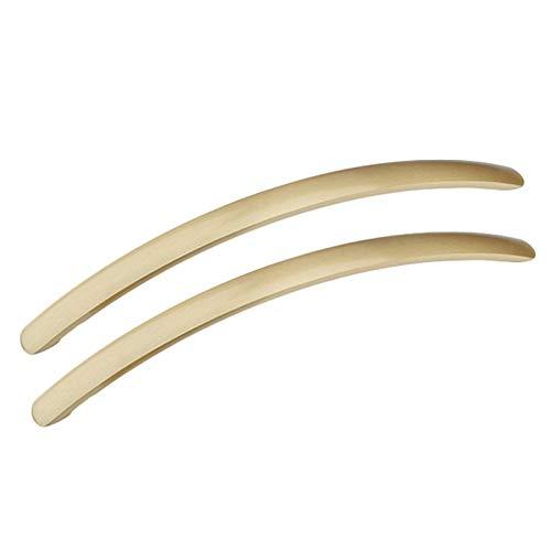 WLALLSS 2 manijas de latón para gabinetes, manijas para armarios de Cocina, manijas para cajones Dorados, Tiradores de cajones, Tiradores, perillas de Puerta internas