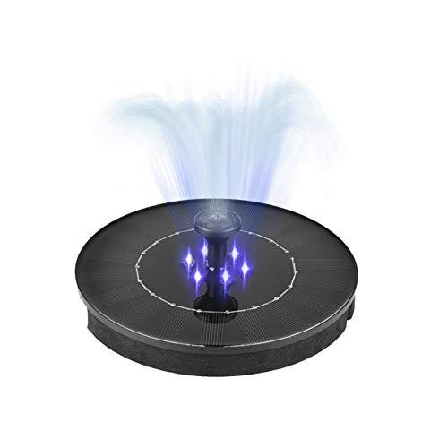 Solar Springbrunnen mit Tauchpumpe Mini Wasserdichter Haltbarer 4 Effekte Langes Leben LED Sonnenkollektor Energiesparend und Umweltfreundlich für Vogelbade GartenbrunnenSchlüsselbund enthalten