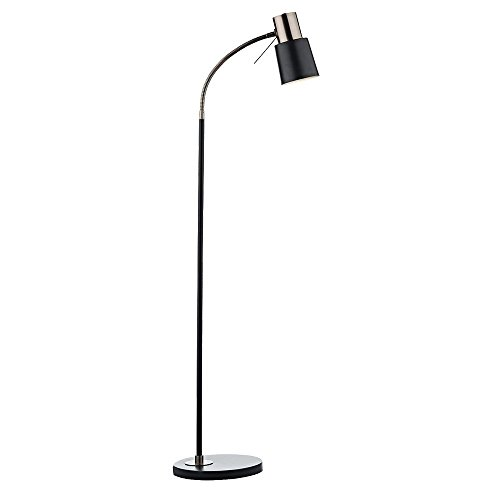 DAR BOND - Lámpara de pie Task Negro Cobre