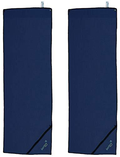 banters Toalla de Microfibra para Deportes y Entrenamiento en el Gimnasio, Azul, 2 pzas