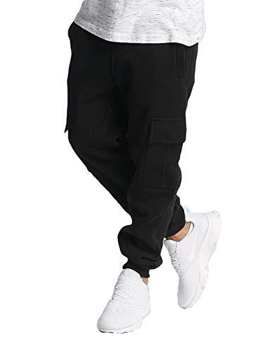 Southpole Men's Active Basic Jogger Fleece Pants, Black (Cargo), Large