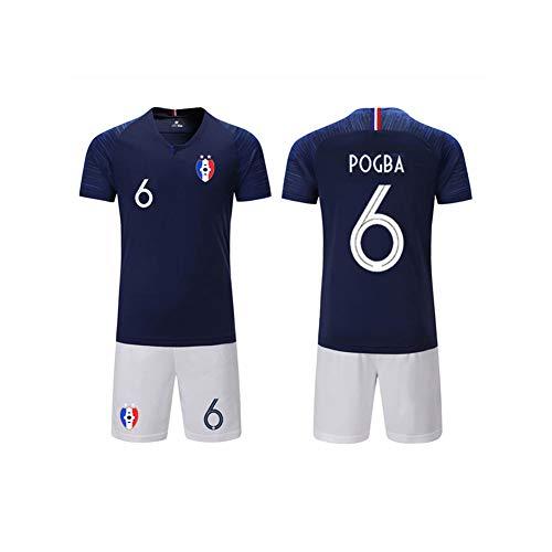 Herren Fußball Trikot Fußballuniform - Manchester United Football Club Paul Pogba #6 Trikot, Alle Größen Kinder Erwachsene Sport Fußball Kleidung Anzug,Schwarz,M
