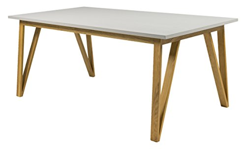 Tenzo Cross Designer Table de Salle à Manger, Chêne, Gris, 95x185x75 cm