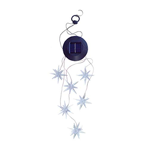 Solar Wind Chimes Shape of Sea Urchin Color Changing Waterproof Solar Powered Outdoor Led Light Ornaments for Yard Patio Balcony