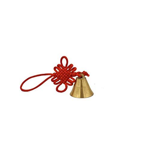 Ogquaton Glocken Windspiele mit chinesischen Knoten hängen Ornament Tür Garten im Freien Home Room Decor Geschenk, 35 * 6 cm langlebig und praktisch