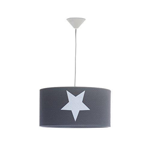 Alondra L597T-7900 - Lámpara bebé de techo con estrella, color gris