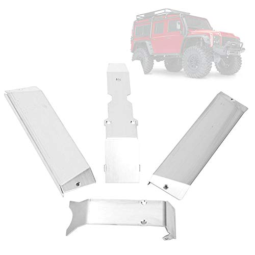 Dilwe RC Unterfahrschutz, Unterfahrschutz aus Edelstahl für E-REVO 2.0 RC Car Remote Control Zubehör(Big E)