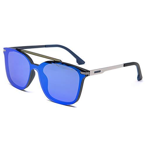 MNGF&GC Las nuevas gafas de sol polarizadas de doble haz ranas espejadas de...