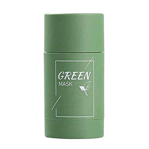 Green Tea Purifying Clay Face Mask Moisturizing Oil Control Shrink Pores Remove Anti-Acne Solid Fine Mask Facial Care (1)