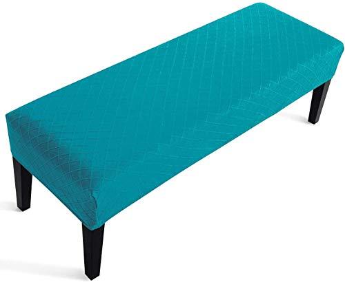 YISUN Universal-Bezug für Esszimmer-Bank, Elastisch, Stuhlhussen, Stretch Jacquard Dining Bench Cover für Esszimmer, abnehmbar, Bezug für Esszimmerstuhl, Esszimmer (Blau)