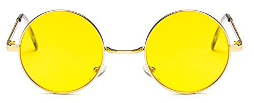 Gafas De Solgafas De Sol Redondas para Mujer, Rojo, Amarillo, Azul, Verde, con Lentes Transparentes, Gafas De Sol para Mujer, Pequeñas Gafas De Sol De