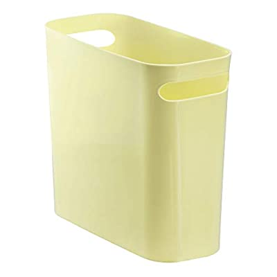 "InterDesign Una Wastebasket Trash Can 10"", Lemon"