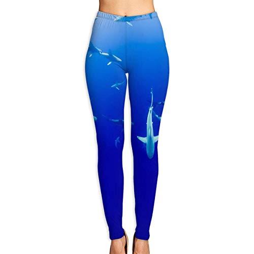 JJsister Women \'s Hammerhead Sharks Bedruckte Leggings Yoga Workout Leggings Hose in voller Länge Soft Capri