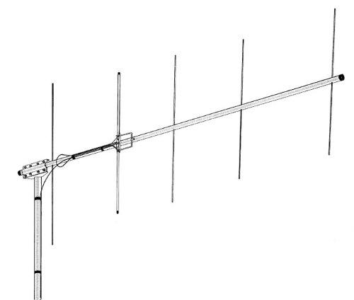 Hy-Gain VB-25FM ~Yagi antenna, 2m, 5 element