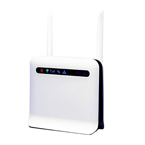 Senmubery Entsperrte 300 Mbit/S WLAN Router 3G / 4G LTE Mobilrouter mit WAN/LAN USB 2.0 Anschluss SIM Karten Steckplatz WLAN Router EU Stecker
