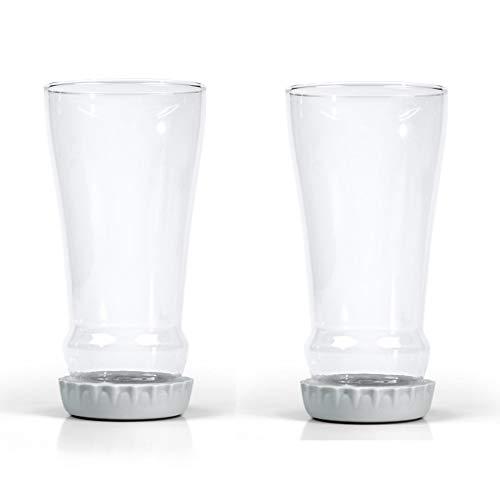 Copa de agua sin copas Copa de cerveza de cristal de vino grande sin cristal Taza de agua Juego de 2, cubierta de copa de silicona de copa de vino invertida creativa, banquete de bodas Acampar encanto