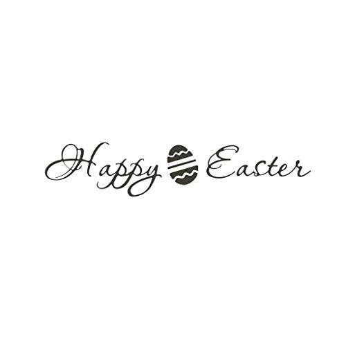 Pegatinas de pared con huevos de Pascua 2021, de PVC extraíbles, impermeables, para puerta, ventana, dormitorio, decoración del hogar