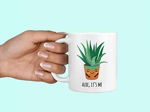 Aloe ITS ME Aloe Haar Me Koffiemok Aloë Vera Mok Je had me bij Aloe Plant Lady Mok Succulente Mok Hallo Zijn Me Cactus Mok Cactus