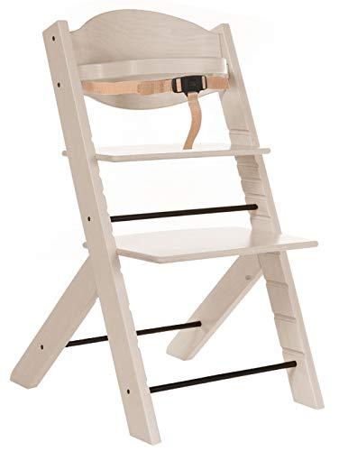 Treppy ® 2030 Hochstuhl mitwachsender Treppenstuhl Woody White