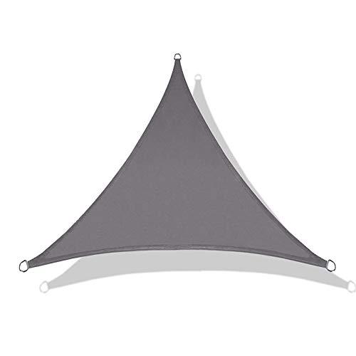 YCDZ - Tenda parasole triangolare, anti-UV, impermeabile, per esterni, patio, feste, tenda parasole con 3 corde fisse (2,4 x 2,4 x 2,4 x 2,4 m, grigio)