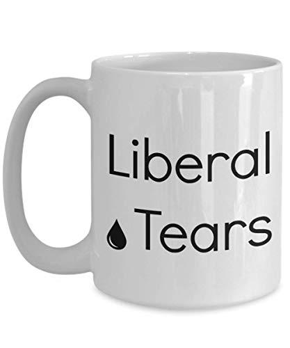 N\A Lágrimas liberales Taza de café Anti demócrata Novedad Mensaje político Liberal demócrata Pro Trump