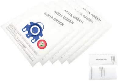 AQUA GREEN 6-Miele GN Micro 3D Effizienz Staub Taschen und 2Filter-Kit