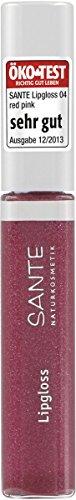 SANTE Naturkosmetik Lipgloss No. 04 red pink, 10ml