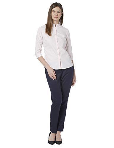 Park Avenue Woman Solid Light Red Coloured Woman Polyester Blend Shirts (Size:- L) - PWSB02045-R2