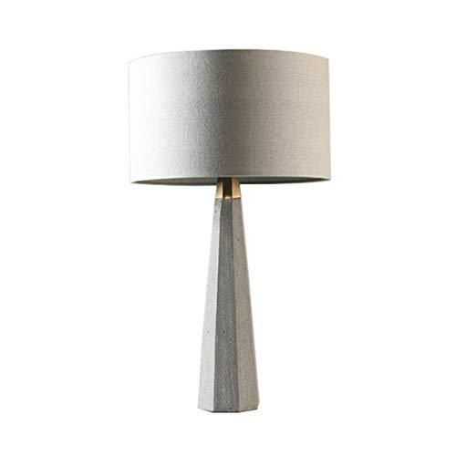 Lámpara de mesita de noche La creatividad Cemento lámpara de mesa minimalista Estudio Cocina dormitorio de la lámpara de la personalidad Mesilla de noche decorativo de la lámpara de noche Luz Lámpara