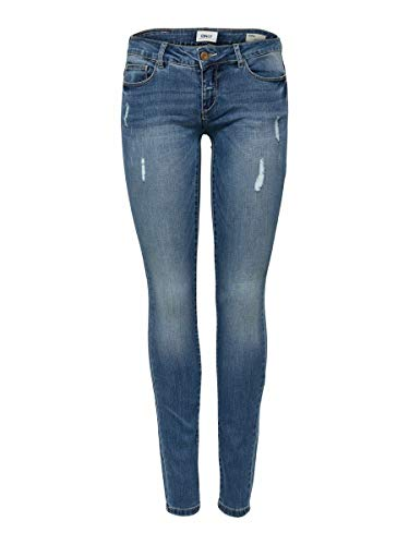 Only Coral Jeans, Bleu (Medium Blue Denim), W28/L30 (Taille Fabricant: 28) Femme