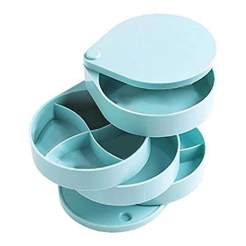 Joyero giratorio caja de almacenamiento de 4 capas giratoria 360 grados organizador redondo caso collar anillo exhibición titular 4 capas organizador giratorio