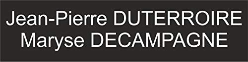 Placa o Etiquette recinto buzón (2líneas–Negra 100x 25mm