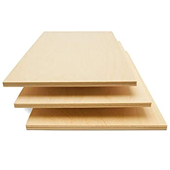 Baltic Birch Plywood 6 mm 1/4 x 12 x 24 Inch Craft Wood Box of 6 B/BB Grade Baltic Birch Sheets Perfect for Laser CNC Cutting and Wood Burning by Woodpeckers