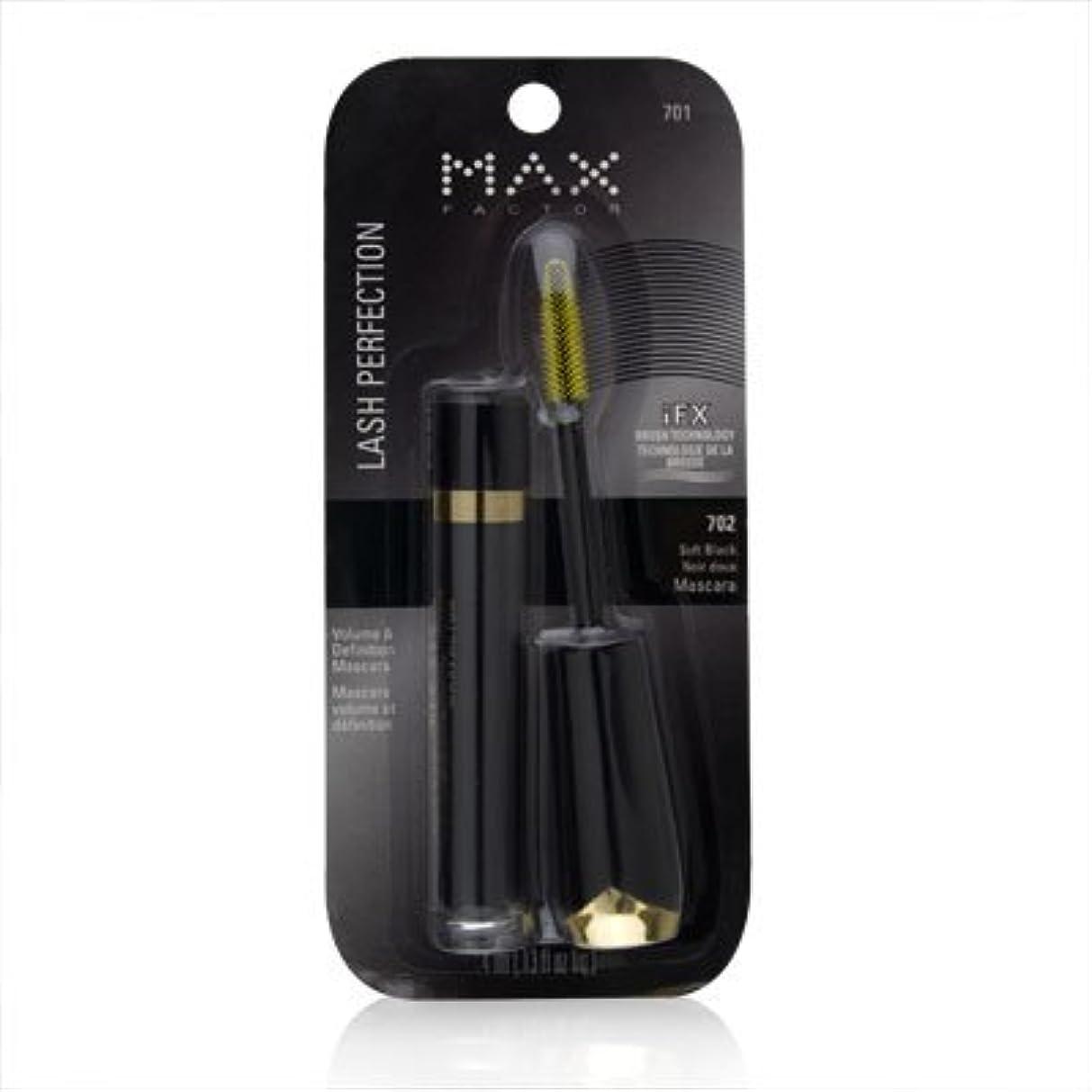 スライス説教ペストリーMax Factor Lash Perfection Volume & Definition Mascara 702 Soft Black by Max Factor