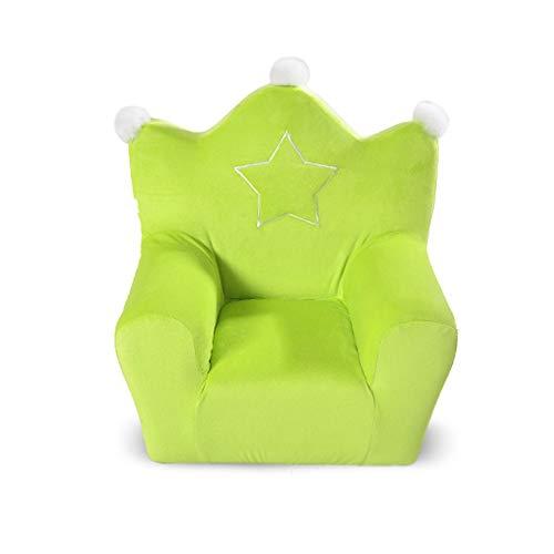 Kinder Cartoon Sofa, Kinder Sessel, Mini Sofa Weich Stetigen Comfortablefor Wohnzimmer Schlafzimmer Kindergarten-grün 50x50x35cm(20x20x14inch)