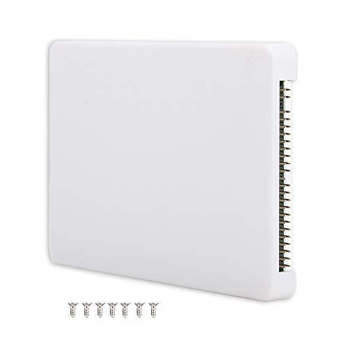 Garsent Caja de Disco Duro mSATA SSD a 2.5 Pulgadas Adaptador IDE de 44 Pines con Estuche, portátil Portátil Pata/IDE Adaptador de Caja de Disco Duro(Blanco)