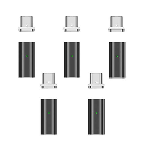 NetDot Gen10 USB C to USB C Magnetic Adapters Fast Charging and Data Transfer (5 Pack, Black)